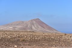 Red Mountain, Fuerteventura royalty free stock images