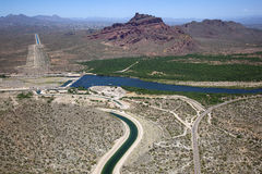 Red Mountain and Granite Reef Dam Stock Image