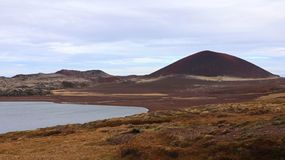 Red mountain in Iceland stock image