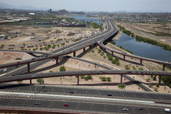 Red Mountain Interchange Stock Photography
