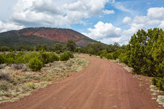 Red Mountain landscapes in Northern Arizona. Hiking the Red Mountain trail in Northern Arizona Stock Photography