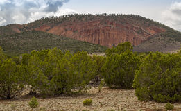 Red Mountain landscapes in Northern Arizona. Hiking the Red Mountain trail in Northern Arizona Stock Photos