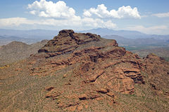 Red Mountain in Mesa Stock Photo