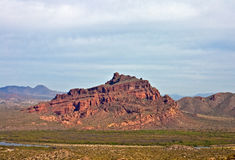 Red Mountain in Mesa, AZ. Red Mountain in Mesa Arizona on a cloudy day Stock Photos