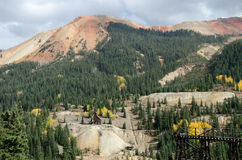 Red Mountain old mines. Picture of a old mines area near Ouray in Colorado Royalty Free Stock Photo