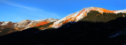 Red Mountain peak Stock Photography