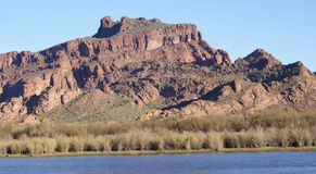 Red mountain Stock Image