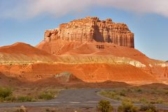 Red mountain stock photography