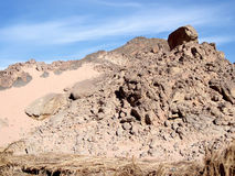 Red mountain on Sinai. Stock Photo