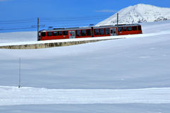 Red mountain train Royalty Free Stock Photography