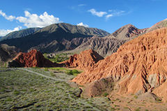 Red Mountain Valley In Quebrada De Humahuaca Royalty Free Stock Photo