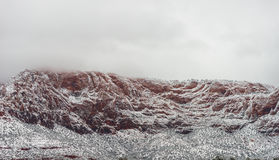 Free Red Mountain With Snow Haze At Sunset Royalty Free Stock Photography - 66507947