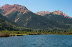 Red Mountains. On Highway 550 in western Colorado Royalty Free Stock Photos