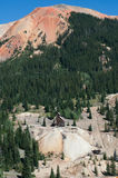 Red Mountains. Red Mountain mining district between Ouray and Silverton, Colorado Royalty Free Stock Photo
