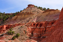 Red mountains. Palo Duro State Park, Amarillo,Texas Royalty Free Stock Photography