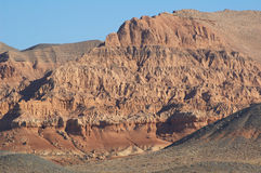 Red mountains. In Kazakhstan Stock Photography