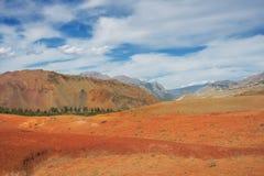 Red mountains, Altai Mountains, Russia Royalty Free Stock Photos