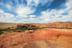 Red mountains, Altai Mountains, Russia Royalty Free Stock Images