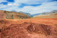 Red mountains, Altai Mountains, Russia Stock Photography