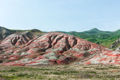 Red mountains. Amazing red mountains, rocks mountains Stock Images