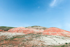 Red mountains. Amazing red mountains, rocks mountains Royalty Free Stock Images