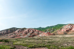 Red mountains. Amazing red mountains, rocks mountains Royalty Free Stock Image
