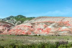 Red mountains. Amazing red mountains, rocks mountains Stock Image