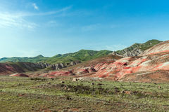 Red mountains. Amazing red mountains, rocks mountains Stock Photo