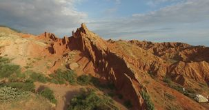 Red mountains stock footage