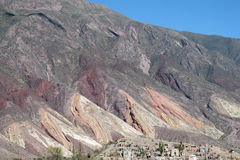 Red mountains landscape near Tilcara in Argentina Stock Photo