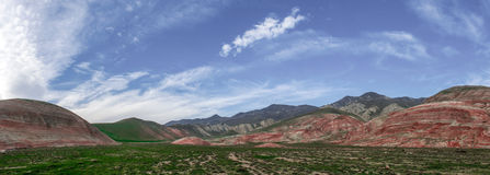 Red mountains. Panoramiv view to Red mountains Stock Photos