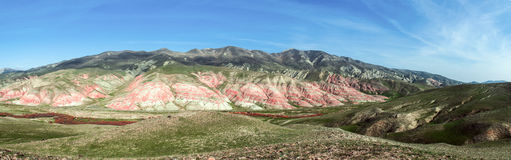 Red mountains Stock Images