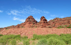 Red mountains and rock formations Royalty Free Stock Images
