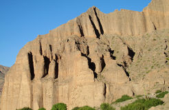 Red mountains and rock formations in Tilcara village Stock Photos