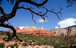 The Red Mountains of Sedona, AZ Royalty Free Stock Photos