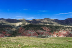 Red mountains Stock Image