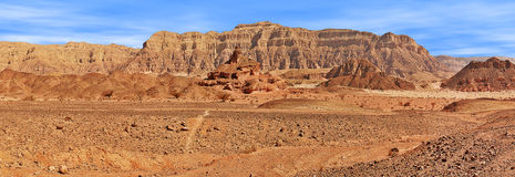 Red mountains in Timna park. Stock Photos