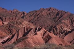 Red Mountains in Tupiza Royalty Free Stock Image