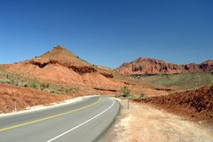 Red Mountains of Washington County Utah. A look at the red mountain landscape near Gunlock, Washington County Utah royalty free stock images