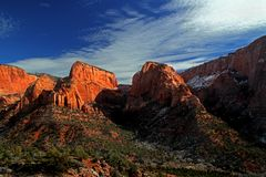 Red Mountains of Zion National Park Stock Image