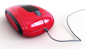 Red mouse. For your design Stock Images