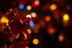 Red Mouse studio quality light. Red glasses Mouse studio quality light royalty free stock image