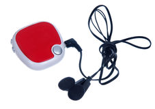 Red mp3 player Royalty Free Stock Photos
