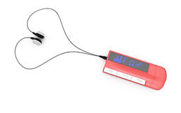 Red mp3 player Royalty Free Stock Photo