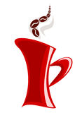 Red mug. With aromatic coffee illustration Royalty Free Stock Photo