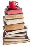 REd Mug on Books Royalty Free Stock Image