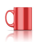 Red mug closeup Royalty Free Stock Image