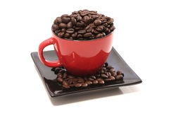 Red mug and coffee Stock Photo