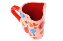Red mug heart. On a white background Stock Images