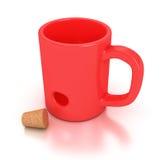 Red mug Stock Photo